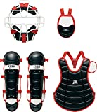 ZETT(ゼット) 野球 少年用 軟式 キャッチャー防具4点セット(J.S.B.B) ブラック×レッド BL716