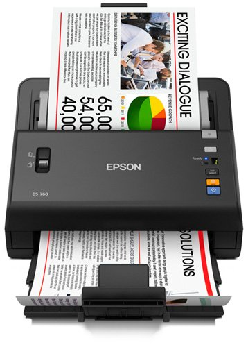 Epson WorkForce DS-860 Hi Speed, Sheet-Fed, Color Document Scanner, 80 page Auto Document Feeder (ADF) Duplex (B11B222201)