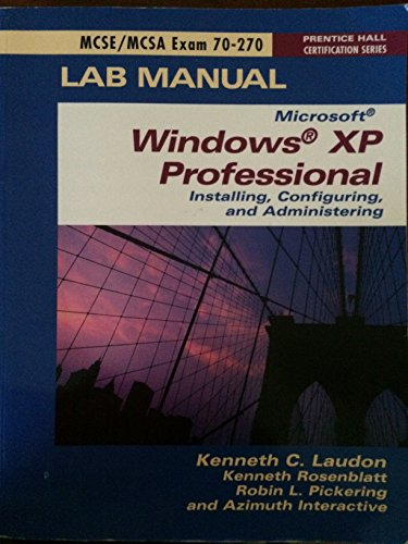MCSE Exam70-270 Project Lab Manual
