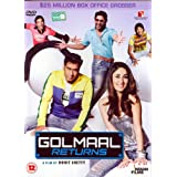 Golmaal Returns (DVD) (Hindi Comedy Film / Bollywood Movie / Indian Cinema DVD) ~ Ajay Devgan