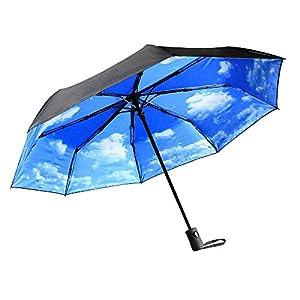 Parapluies | Parapluie pliant Innoo Tech avec protection anti-UV idéal pour les jours ensoleillés ou pluvieux | Parapluie de voyage avec ouverture et fermeture automatique | Parapluie compact pour homme et femme