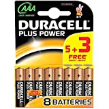 Duracell AAA Batteries 5+3 Free