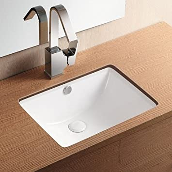 Caracalla Caracalla CA4070-No Hole-637509834739 Ceramica II Collection Bathroom Sink, White