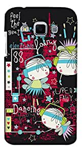 Print Haat Back Case Cover for Samsung Galaxy J3 (Multicolor)