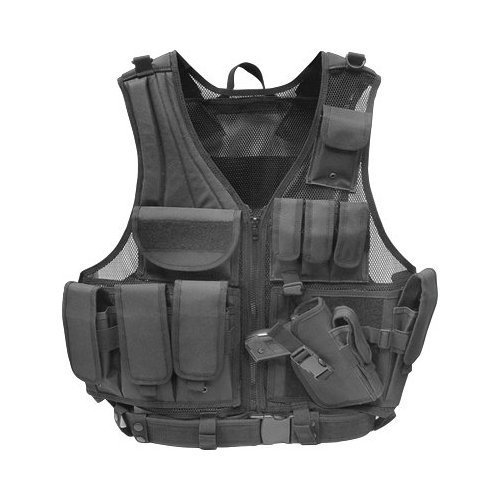 Tactical Airsoft Vest w/ Pistol Holster
