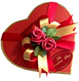 Assorted Belgian Chocolate in Heart Shaped Box 14x13cm
