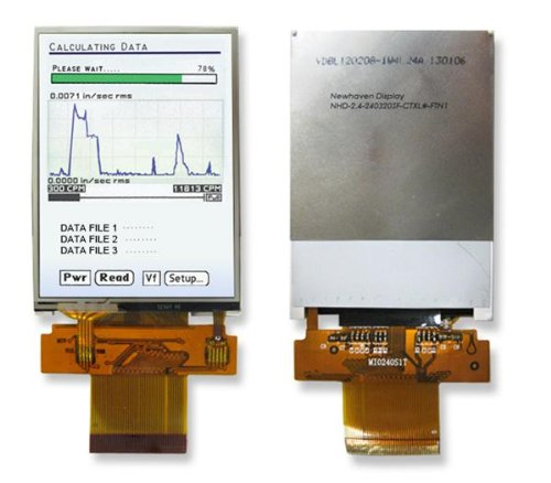 Tft Displays & Accessories 2.4 Lcd Tft W/40-Zif Resistive Touch