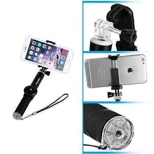 selfie stick with tripod easylifetm waterproof portable extendable wireless self portrait. Black Bedroom Furniture Sets. Home Design Ideas