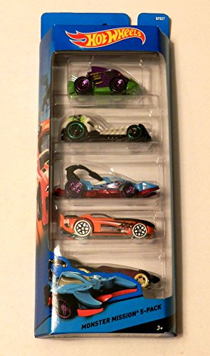 Hot Wheels Monster Mission 5 Car Gift Pack