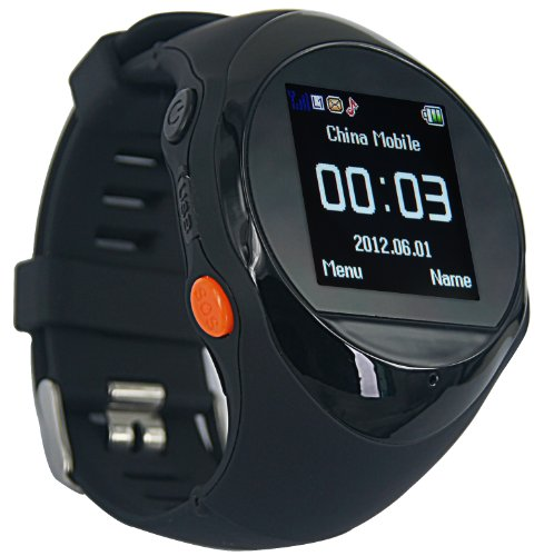 """Oxking Mini Child GPS Bracelet GPS Watch Hiking GPS Tracking Device Pg88 Quad-band Handheld GPS Navigation Outdoor Smart GPS Tracker Wrist Watch Activity Tracker Smallest GPS Tracking Chip 1.5"""" LCD SO"""