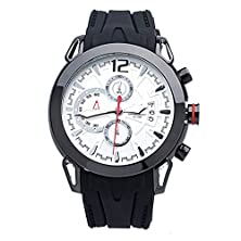 buy Black Generous Mens Sports Watches Silicone Band With Alloy Dial Seiko Watches-Hd013-02