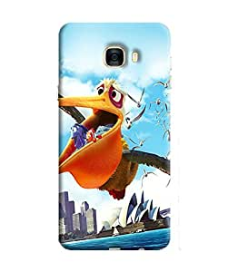 Blue Throat Printed Designer Back Cover For Samsung Galaxy C5