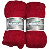 Vardhman Acrylic And Nylon Knitting Wool, Pack Of 2 (Red)