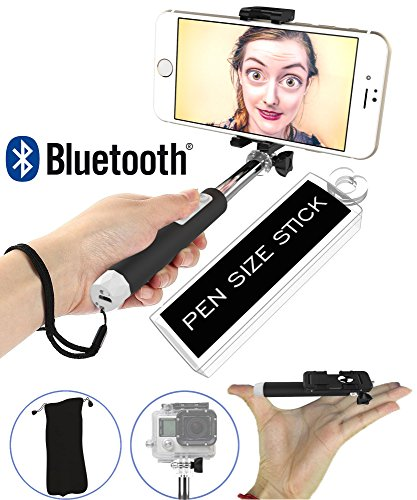 Selfie Stick, Ultra Portable 5-in-1 Monopod with Mirror & Remote & Selfie Flash App | iPhone 6 Plus, Iphone 6 Galaxy S6 S5 Popular Action Camera POV Pole Camera | Get the Smallest Selfie Stick on the Market NOW! (Cheese Selfie Stick compare prices)