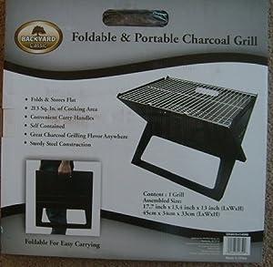 backyard classic foldable portable charcoal