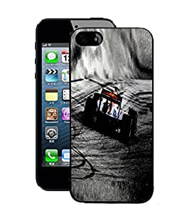 Fuson 2D Printed Racing Car Wallpaper Designer Back Case Cover for Apple iPhone 5 - D873
