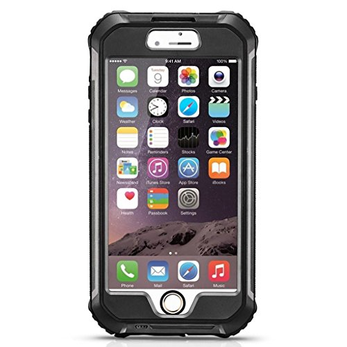 EasySMX iphone6s plus/6 plusケース 防水 防塵 耐震 耐衝撃 保護等級IP68取得 指紋認証可 アイフォン6 プラスカバー マナーモードのスイッチ付き (ブラック)