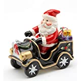 Cosmos Santa On Old Fashion Car Salt And Pepper Set, 5.6-Inch Long