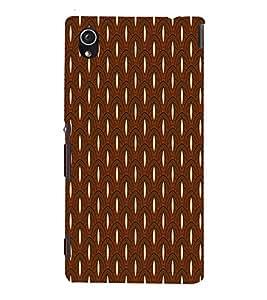 Brown Color Pattern Design 3D Hard Polycarbonate Designer Back Case Cover for Sony Xperia M4 Aqua :: Sony Xperia M4 Aqua Dual