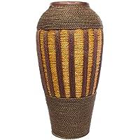 ARTELIER Polyresin Jute Vase (52 Cm X 17 Cm X 52 Cm, ID-3Y-Y036)
