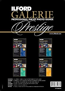 Ilford 2002344 8.5 X 11 Inches GALERIE Prestige Fine Art, Sample Pack (Black)