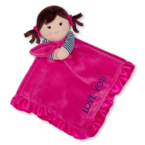Carter's Plush Dolly Cuddle Security Blanket with Rattle