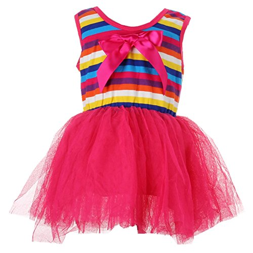 ANDI ROSE Kids Baby Girl Toddlers Rainbow Tutu Top Skirt Party Dresses Outfit Clothes