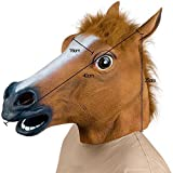 KINGMAS Novelty Latex Horse Head Mask