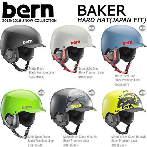 15-16 bern バーン ヘルメット BAKER HARD HAT ベイカー ジャパンフィット ウインターモデル 正規品 (MatteYellowCamoHatstyle, US_XL(JPN_M))