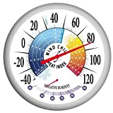 Springfield Precision Instruments 13-Inch Thermometer with Heat Index, Wind Chill and Hygrometer
