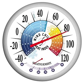 Thermometer with Heat Index, Wind Chill and Hygrometer