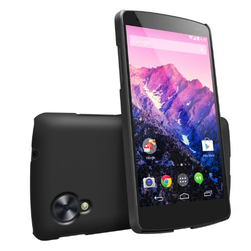 Nexus 5 Case, Ringke [Slim] Snug-Fit Slender [Tailored Cutouts] Extreme Lightweight & Thin Scratch Resistant Superior Coating PC Hard Skin cover for Google Nexus 5 - SF Black (Phone Cover Nexus 5 compare prices)
