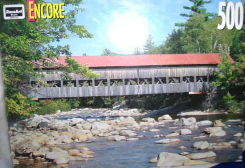 "Encore 500pc ""Albany Covered Bridge"" Jigsaw Puzzle"
