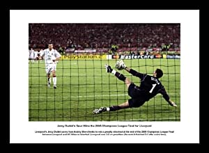 Liverpool Fc 2005 Champions League Dudeks Save Framed Print Memorabilia