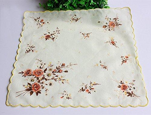 Uniquezone Vintage Floral Handkerchief Wendding Party Fabric Hanky 6
