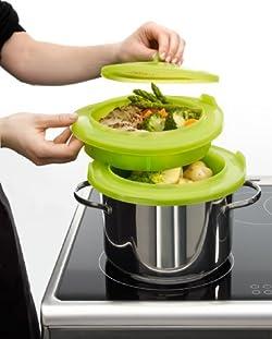 ルクエ 2層同時調理スチーマー(蒸し料理専用)62033