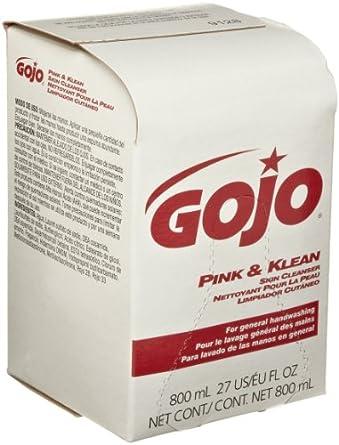 Gojo 9128-12 Klean Skin Cleanser Refill, Pink Color (12 per Case)