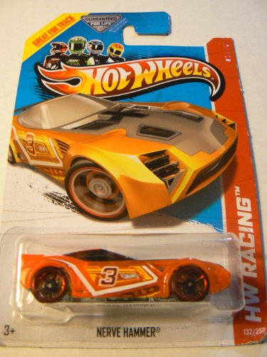 Hot Wheels 2013 Hw Racing Nerve Hammer Orange 132/250 - 1