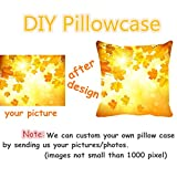 Sleeping Orange Tabby Cat Customized Square Custom Throw Pillow Case Cushion Cover Pillowcase Pillow Cover 18x18