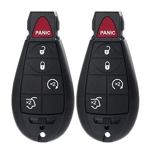 ECCPP® 2 New Replacement Car Key Keyless Fob Remote Key 5 Buttons for 2008 2009 2010 2011 2012 2013 2014 DODGE Grand Caravan M3N5WY783X (2010 Dodge Journey Fob compare prices)