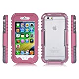 Waterproof Case for iPhone 6 Plus - IP68 Standard; Heavy Duty; Durable; Shockproof From 6 meters; For Underwater Diving-Video-Photography-Texting, All Water Sports - Swimming, Hiking, Surfing - For Up To 24 Hours; Maximum Protection - Lifetime Guarantee - Pink