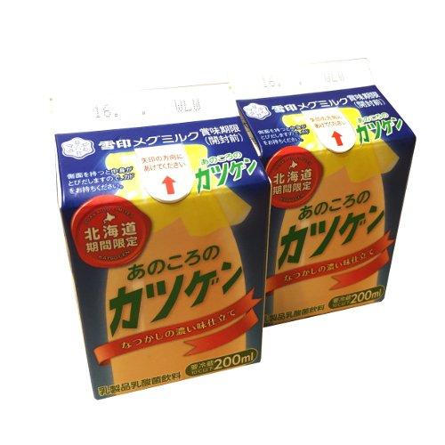 雪印メグミルク あのころのカツゲン 北海道期間限定品 2本セット 200ml