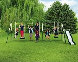 Sportspower Adventure Play II 9-Play Metal Swing Set