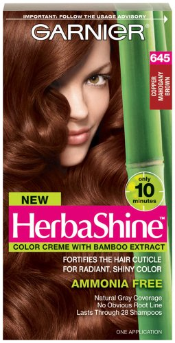 Garnier Herbashine Haircolor, 645 Copper Mahogany Brown