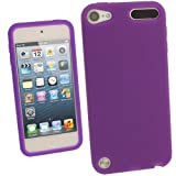 IGadgitz Purple Silicone Skin Case Cover for Apple iPod Touch 5th Generation 5G 32GB 64GB + Screen Protector