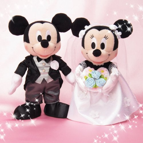 Peluche da matrimonio (nozze di) S Couture & Mickey Minnie (Mickey Mouse e Minnie, Disney) (japan import