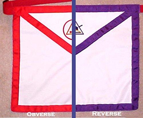 Apron Masonic York Rite Reversible Member with adjustable belt (York Rite Apron compare prices)