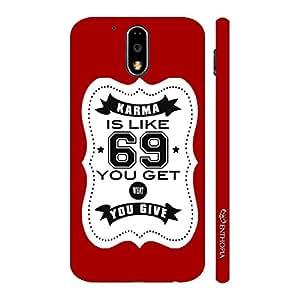 Enthopia Designer Hardshell Case Karma is like 69 - Red Back Cover for Motorola G4 Play