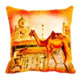 Lali Prints Camel Digitally Printed Cushion Cover