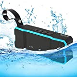 Bluetooth Speakers, TOMROW Portable Wireless Waterproof Speaker 12-Hour Playtime with Super Bass and HD Sound for Shower, Pool, Beach, Kitchen, Outdoor